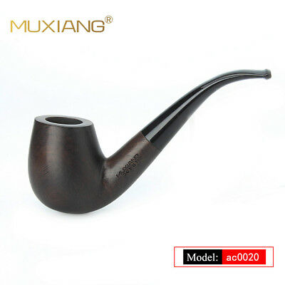 Ebony Wood Tobacco Pipe Handmade Tobacco Pipe Classic Bent Pipes Pipe Vintage