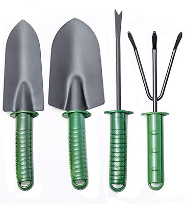 Annymall Garden Tools Sets,Kids Toy Mini Plant 4 pcs Spade Shovels Rakes Gardeni