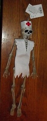 Nurse Skeleton Halloween Hanging Decoration RN/LPN/LVN/CNA Hospital/Office  LQQK