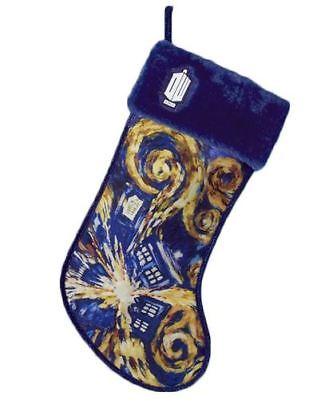 Doctor Who Starry Night Exploding Tardis 19 Inch Christmas Stocking DW7141 New