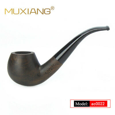Ebony Wood Pipe tobacco Smoking pipe Handmade Tobacco Pipe Classic Bent Pipes