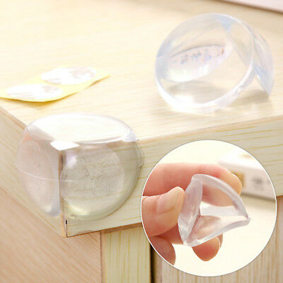 8PCS Soft Rubber Transparent Baby Safety Corner Protector For Table Desk Home