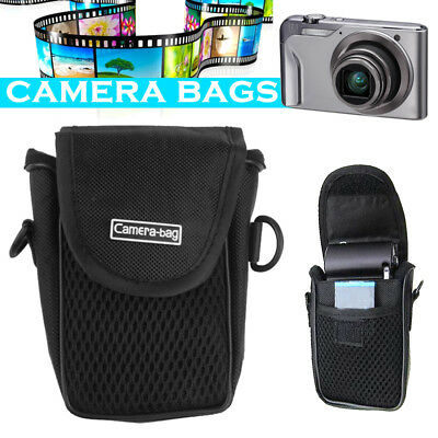 Black Camera Case Bag Pouch Compact Nylon Soft Shockproof Breathable Protection