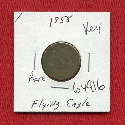 1858 Flying Eagle Penny 1 Cent #64916 $ Nice Coin $ Us Mint Rare Key Date Estate