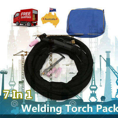 WP-17 3.7m 220A Tig Welding Torch Complete with Flexible & Valve Head 7 IN 1 AU