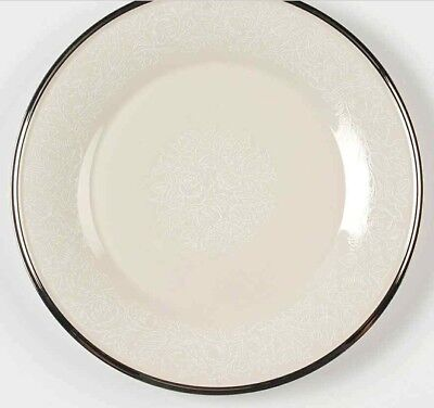Lenox Moonspun China Dinner Plate(s)10 3/4 inch White Floral on Ivory