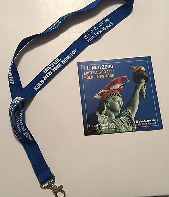 Continental Airlines CD and Lanyard