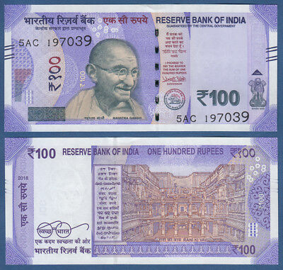 INDIEN / INDIA 100 Rupees 2018 UNC  P. NEW