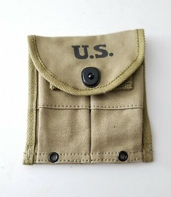 Usgi Ww2 .30 M1 Carbine Belt Magazine Pouch Od Green Dated Hamelco 1944