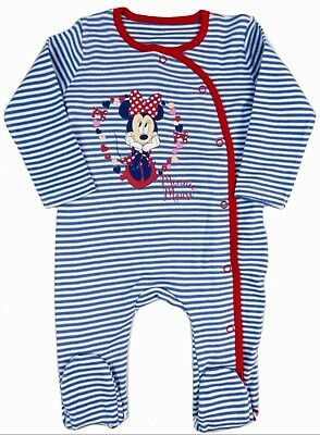 Baby Girls Minnie Mouse Sleepsuit 0-3 Months to 12 Months Brand New Great Gift