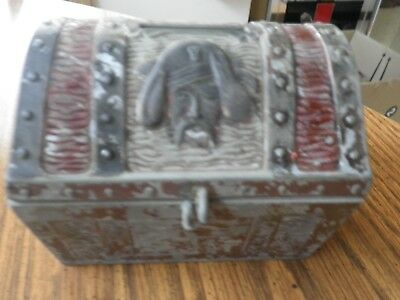 Vintage  Metal Pirate Treasure Chest Coin Bank