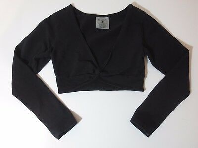 Danskin Girls Size Extra Small 4/5 Cropped Long Sleeve Dance Top