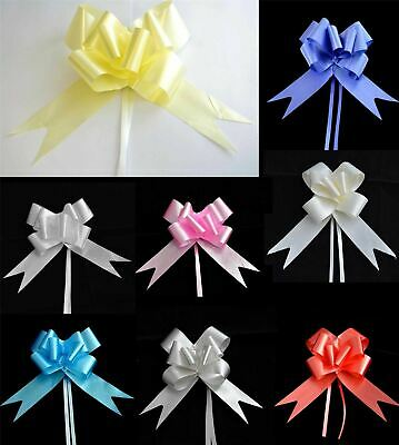 50mm Pull Bows Wedding Hampers Car Gift Wrap Ribbon Florist Pew Xmas Decorations