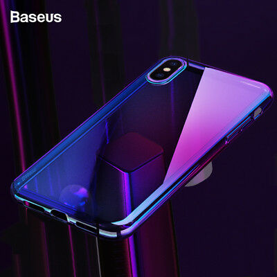 Baseus Phone Case For iPhone Xr Xs Max Covers Gradient Color Soft TPU Back Cover