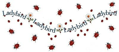 "1 Ladybird Lady Bug Wrap 7-1/2"" X 3-1/2"" Waterslide Ceramic Decal Bx"