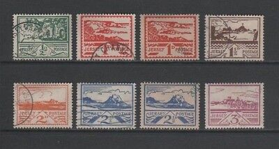 Jersey 1943 - 1944 German Occupation Used / CTO Set