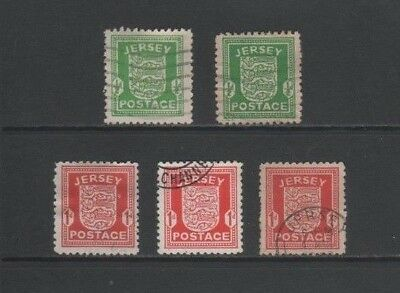 Jersey 1941 - 1943 German Occupation Used / CTO Set + Variations