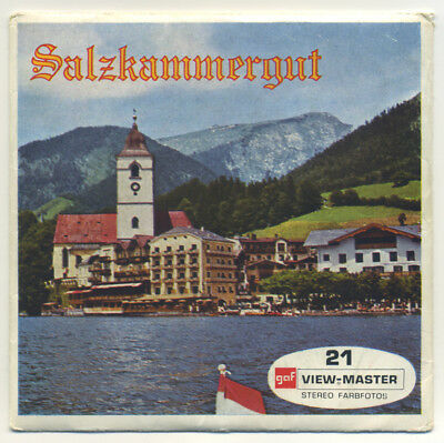 SALZKAMMERGUT Austria GAF ViewMaster Packet C-654-D German edition