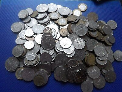 Job Lot Of Old French Coins 1600 Grams.