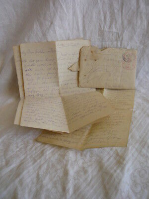 WW1 Soldier's Letters Home + Envelope May 1918
