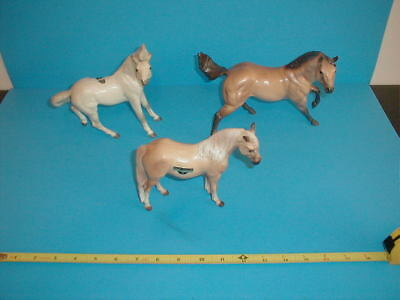 Vintage Hagen Renaker Horses Sun Cortez Stallion Heather Mare & A Thoroughbred ?