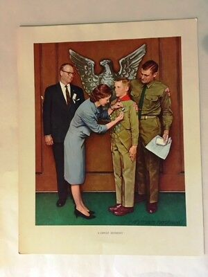 Boy Scout Norman Rockwell Prints (Lot of 5)