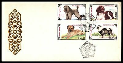 Dog 4 Different Issues Combination 1991 Unsealed Fdc