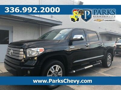 2015 Tundra Platinum Toyota Tundra Black with 69,307 Miles, for sale!
