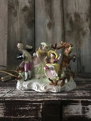 Antique Victorian figurine lamp