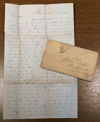 1859 Letter Pikes Peak Gold Rush Northern and Southern People Guns Knives