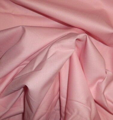 "Vintage 1 YD X 44""w pastel pink Cotton FABRIC Quilt, Craft, Sewing &  dolls"