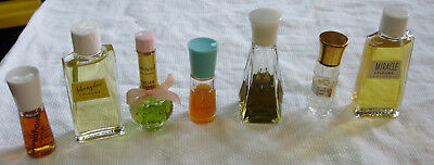 Small Glass Perfume Bottles Collectibles Lot 7 Lentheric Lucien Leong Hypnotique