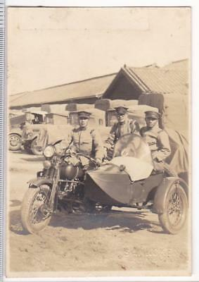 WWII Photo Imperial Japanese Army IJA Motorcycle with Sidecar China Pre-1939
