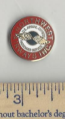 NORTHWEST AIRLINES lapel pin tie tack vintage us airmail logo wings