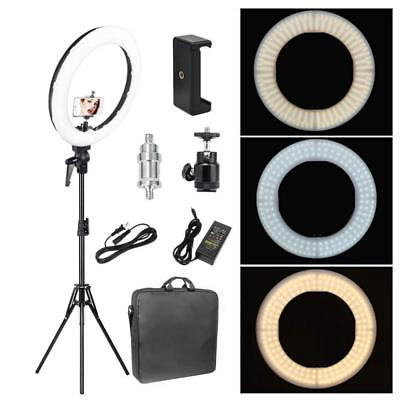 Zomei 18-inch LED Ring Light 50W 3200-5500K White Color and Orange Changing...