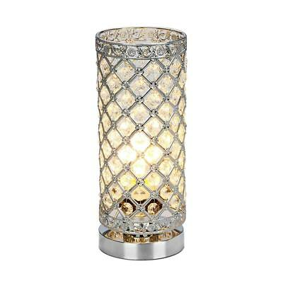 Crystal Table Lamp Touch Control Dimmable Accent Desk Bedside Modern Light...