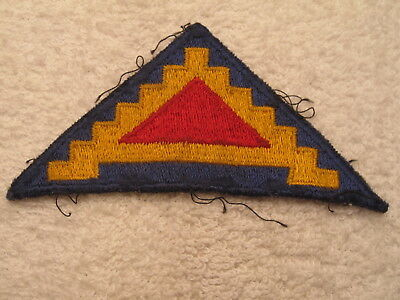 US ARMY WWII 7th ARMY PATCH THEATER MADE & WORN VINTAGE ORIGINAL 100% AUTHENTIC