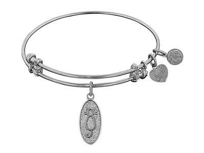 """Angelica Collection Non-antique Stipple Finish Brass""""cat"""" Expandable Bangle"""