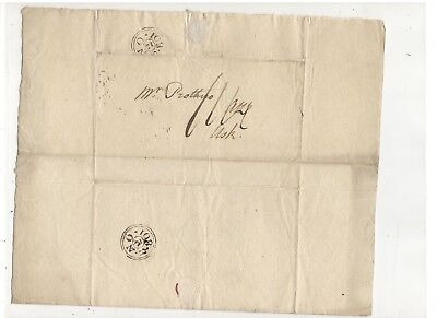 1801 Stampless Folded Letter From England:  Ref:  Payment