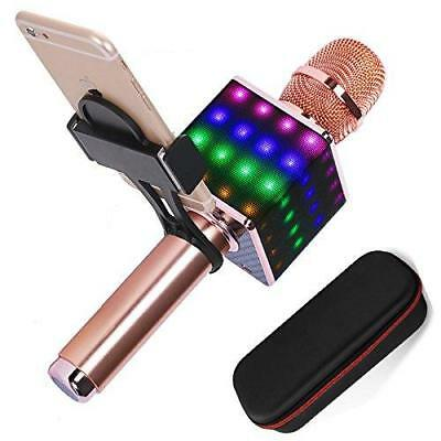 Wireless Karaoke Microphone H8 2.0 with Smartphone Holder and LED Light -...