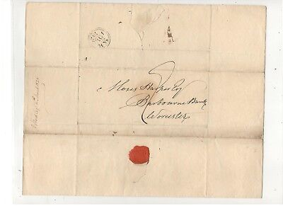 1826 Stampless Folded Letter From England, From J.b. Reid