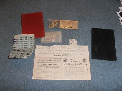 Wwii Ration Stamp Collection W/carrying Cases