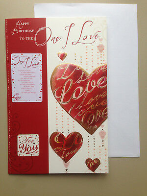 Birthday Card To The One I Love Loving Verse 334 Picclick Uk