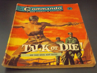 Commando War Comic Number 236 !!,1966 Issue,v Good For Age,52 Years Old,v Rare.