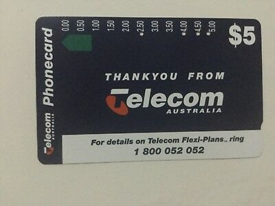 $2 telecom thankyou from telecom phonecard 4 holes used