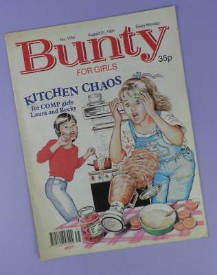 Bunty Comic Number 1755, August 31st 1991 Includes Rebekah Elmaloglou Poster