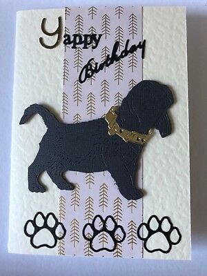 Handmade Cute Dog Themed Birthday Cards