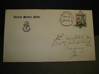 USS WEST VIRGINIA BB-48 Naval Cover 1931 BATTLESHIP #702