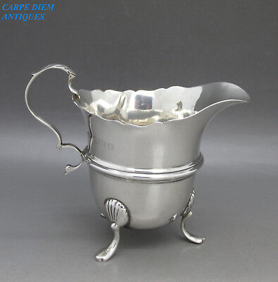 ANTIQUE GOOD QUALITY SOLID STERLING SILVER CREAM JUG, 60g, W.A, BIRMINGHAM 1910