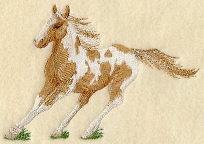 Embroidered Long-Sleeved T-Shirt - Paint Horse A9065 Sizes S - XXL